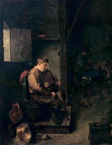 Adriaen Brouwer - Sleeping innkeeper