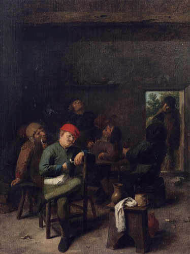 Adriaen Brouwer - Rauchende und trinkende Bauern
