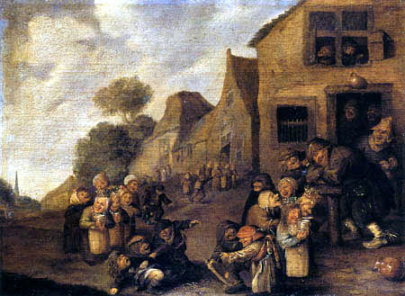 Adriaen Brouwer - Village May celebration