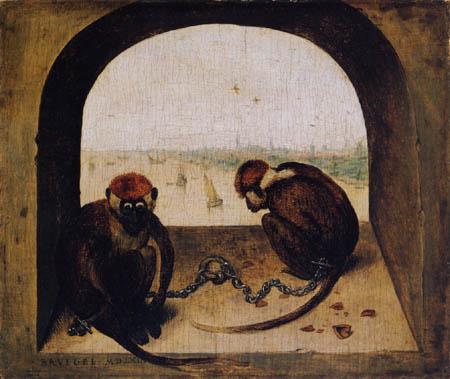 Pieter Brueghel the Elder - Two monkeys