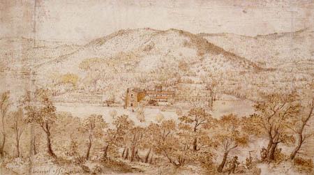 Pieter Brueghel der Ältere - Landschaft mit ital. Kloster