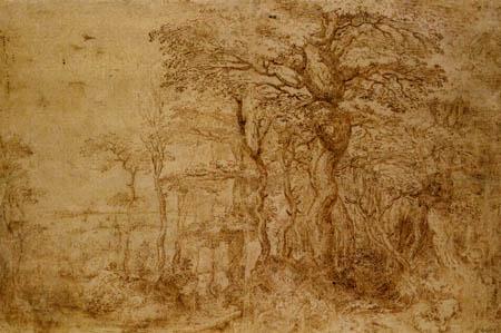 Pieter Brueghel der Ältere - Waldlandschaft mit Bären