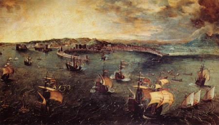 Pieter Brueghel der Ältere - Seeschlacht
