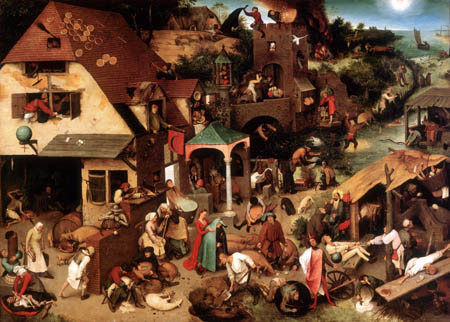 Pieter Brueghel the Elder - Flemish Proverbes
