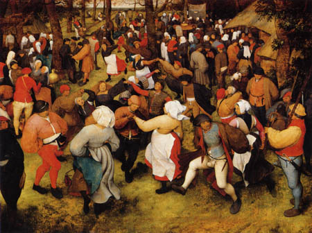 Pieter Brueghel the Elder - Hochzeitstanz im Freien
