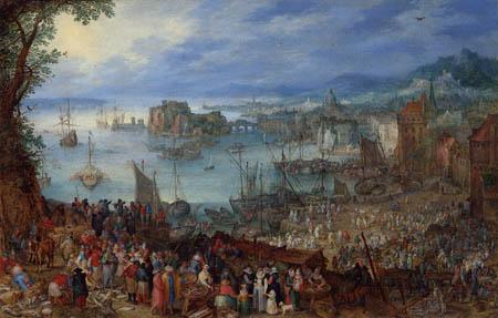 Jan Brueghel the Elder - Grosser Fischmarkt