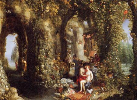 Jan Brueghel der Ältere - Odysseus und Calypso
