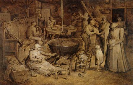 Jan Brueghel the Elder - Visit at the poors and sicks