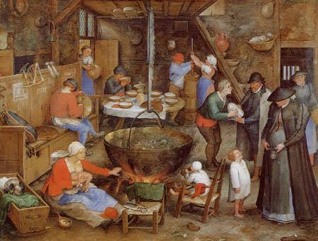 Jan Brueghel l´Ancien - Visite des pauvres et des malades