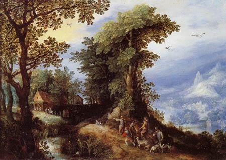 Jan Brueghel the Elder - Return of the hunt