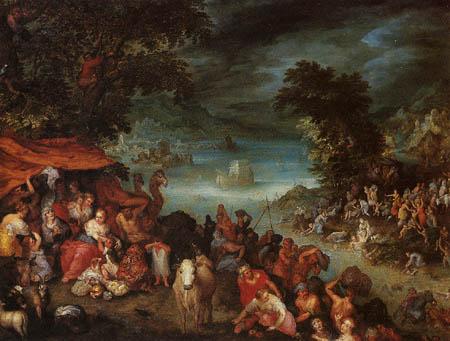 Jan Brueghel the Elder - The Deluge with Noah's ark