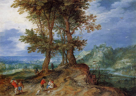 Jan Brueghel the Elder - On the way to market
