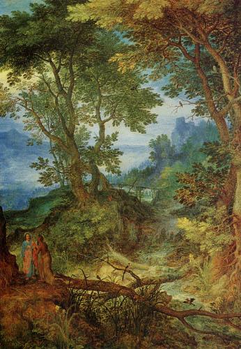 Jan Brueghel the Elder - Mountainous Landscape