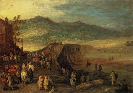 Jan Brueghel the Elder - The bridge of Talavera
