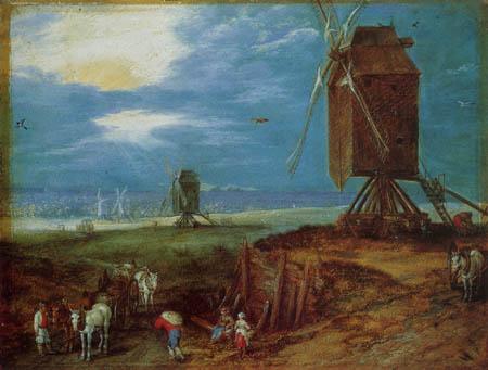 Jan Brueghel the Elder - Windmills