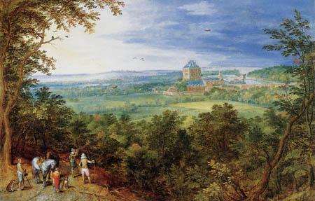 Jan Brueghel the Elder - Landscape with the castle Mariemont