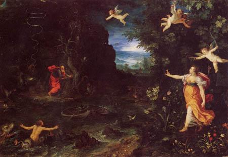 Jan Brueghel the Elder - Circe and Ulysses