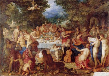 Jan Brueghel the Elder - Vor dem Festmahl
