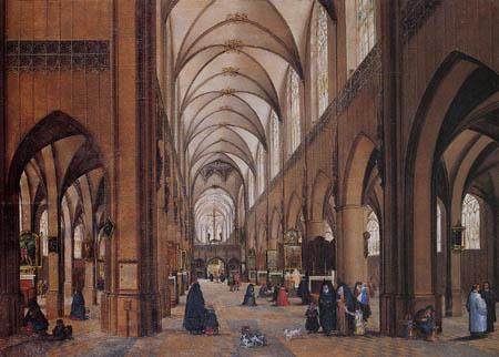Jan Brueghel l´Ancien - Intérieur de la cathédrale d'Anvers