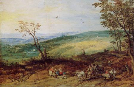 Jan Brueghel the Elder - Landschaft mit Reisenden