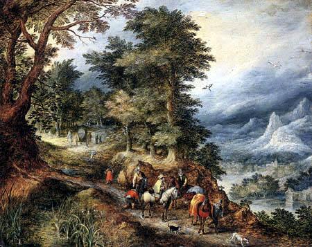 Jan Brueghel the Elder - Reisende in den Bergen