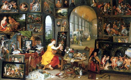 Jan Brueghel the Younger - Allegory of Painting