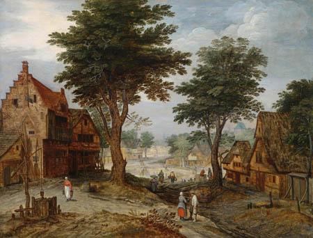 Jan Brueghel the Younger - Village scene