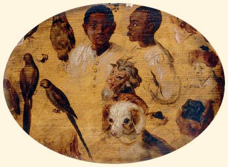 Jan Brueghel the Younger - Studies of Moorish heads and animals