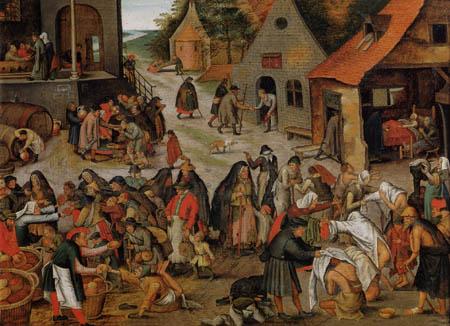 Pieter Brueghel der Jüngere - Die Werke der Barmherzigkeit I
