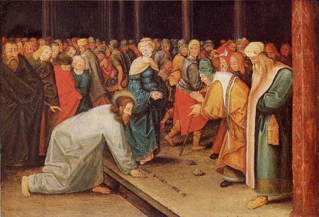 Pieter Brueghel der Jüngere - Jesus und die Ehebrecherin