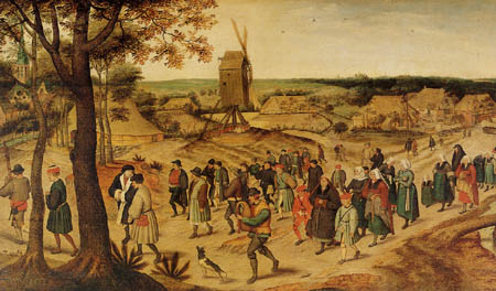 Pieter Brueghel the Younger - A wedding procession