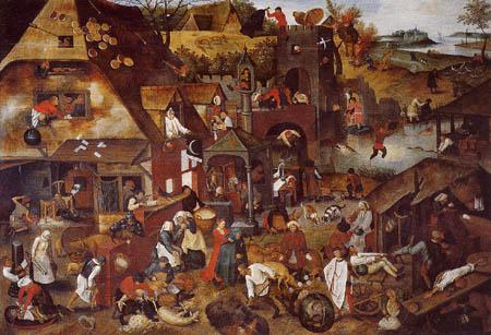 Pieter Brueghel der Jüngere - Flämische Sprichwörter I