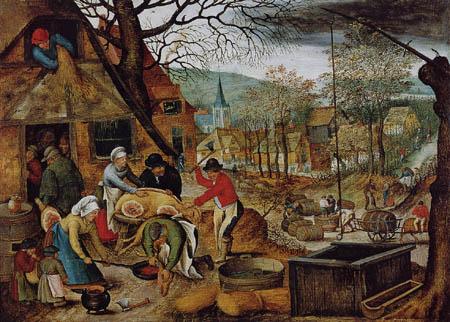 Pieter Brueghel der Jüngere - Der Herbst