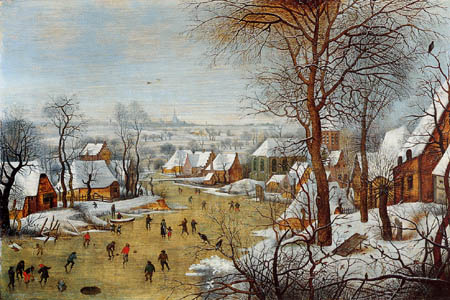 Pieter Brueghel the Younger - A Winter Landscape