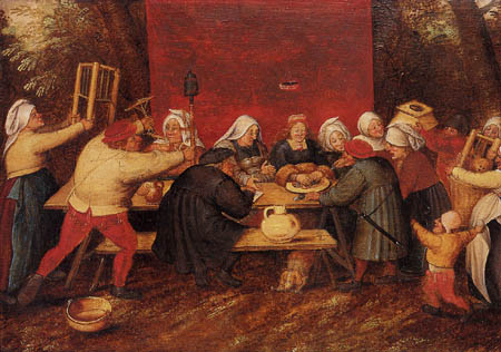 Pieter Brueghel the Younger - The payment of the bride