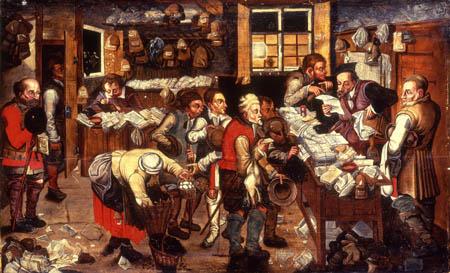 Pieter Brueghel der Jüngere - Die Ablieferung des Zehnten