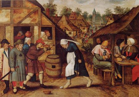 Pieter Brueghel der Jüngere - Der Eiertanz