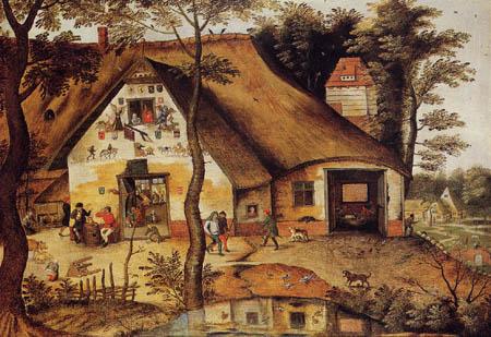 Pieter Brueghel der Jüngere - Rasthaus Saint-Michel