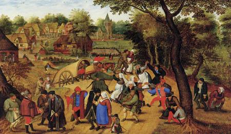 Pieter Brueghel der Jüngere - Die Rückkehr von der Kirmes