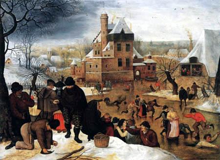 Pieter Brueghel der Jüngere - Wintervergnügen