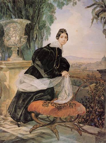 Karl Pawlowitsch Brüllow (Brjullow) - Fürstin E.P. Saltykowa