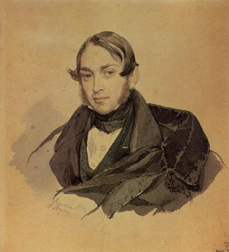 Karl Pawlowitsch Brüllow (Brjullow) - Bildnis S.A. Sobolewski