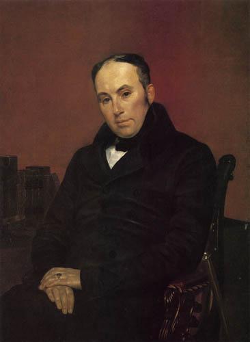 Karl Pawlowitsch Brüllow (Brjullow) - Porträt des W.A. Shukowski