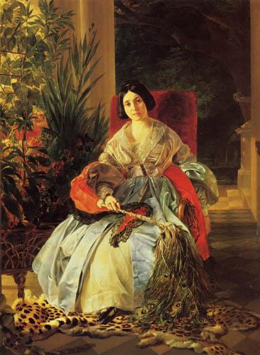 Karl Pawlowitsch Brüllow (Brjullow) - Bildnis der Fürstin J.P. Saltykowa