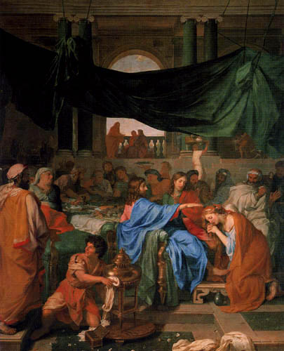 Charles le Brun - The meal in the house of the Simon