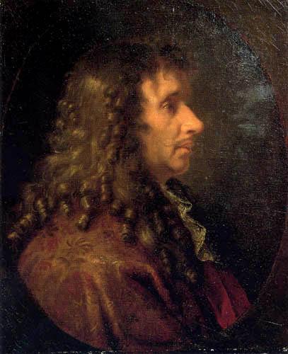 Charles le Brun - Portrait of the poet  Molière