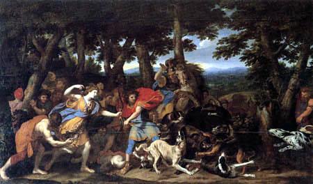 Charles le Brun - Meleager und Atalanta bei der Jagd