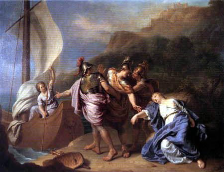 Charles le Brun - Theseus verlässt Ariadne auf Naxos
