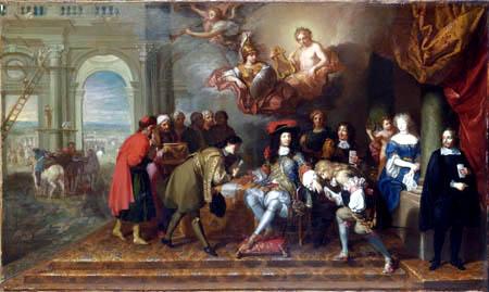 Charles le Brun - Louis XIV. empfängt einen Gesandten
