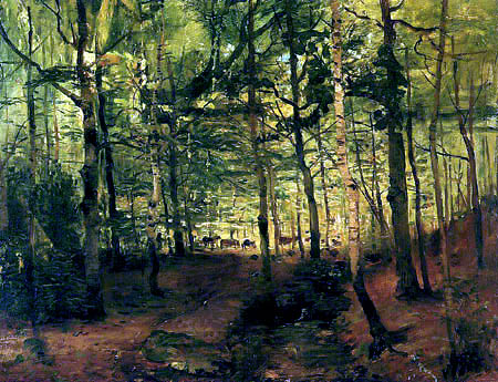 Karl Buchholz - In the forest with cows